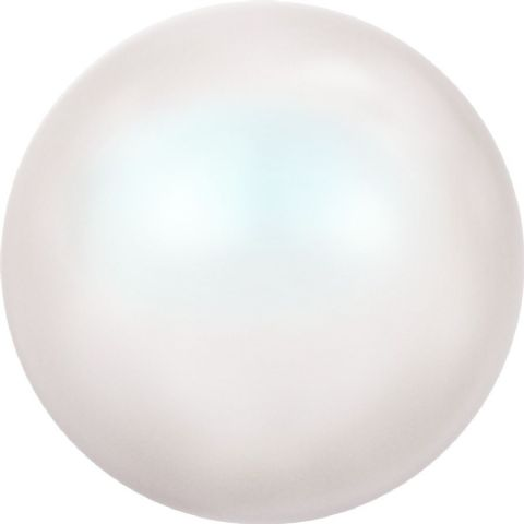 5818 Round Half Hole Pearls, Pearlescent White